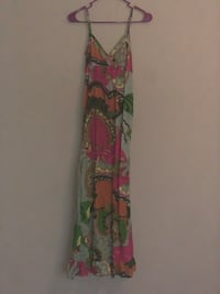 red, green, and yellow floral sleeveless dress Fort Wayne, 46814