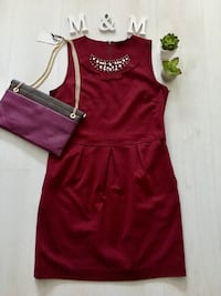 Vestido Cortefiel color vino T.L Madrid, 28050