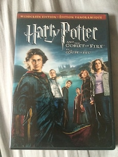 Harry Poter and the goblet of fire DVD movie case