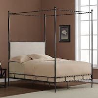 Full Metal Canopy Bed Newark