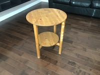 round brown wooden side table Calgary, T3J 3X6