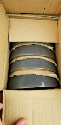 Brand new in box 12pc grey dishware set