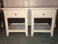 two white wooden side tables Adamstown, 21710