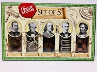 Great Minds Set Of 5 puzzles (new) , N0A 1N6