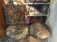 Black and gray metal frame chairs and cushions San Jose, 95134
