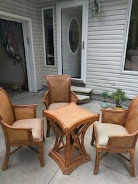Retro Bamboo and Leather Chairs North Canton, 44709