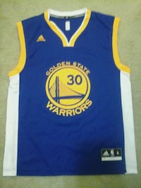 blue and yellow Golden State Warriors jersey Silver Spring, 20902
