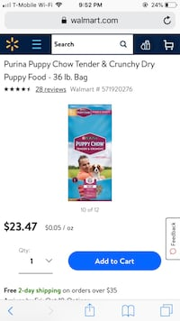 Purina puppy chow dog food tender & crunchy Stockton, 95203
