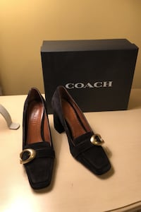 Black Suede Shoe COACH Original Trumbull, 06611