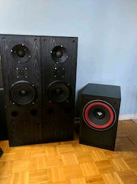 To black tower speakers with cerwin Vegas sub Ottawa, K1H 6N6