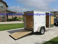 Motorcycle Trailer'16 LooK Element Trailer fits in garage, AC outlets