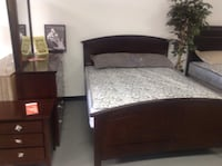 Whiskey Brown Solid wood queen bed $249 King $359 BED ONLY-sets also available Essex