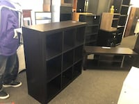 "TV Stand for TVs up to 42"", combo 9 Cube Organizer - $120 Houston, 77092"