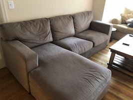 Two Seat Sectional with Right Chaise