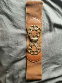 brown and black leather belt Southgate, 48195