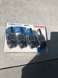 black 4-PC Bell South two-way radio pack 243 mi