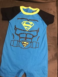 toddler's blue and black Superman-printed onesie Oshawa, L1G 5T8
