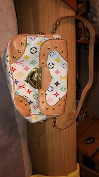 Brown and white leather Louise Vuitton bah duplicate  Calgary, T1Y 3R4