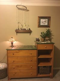 Rustic solid oak wood changing table 2324 mi