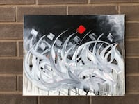 Abstract acrylic painting  Oakville, L6L 0P3
