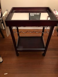 Bar Cart with Wine Rack 25 mi