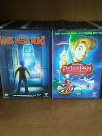 Disney Mars Needs Moms and Peter Pan DVD cases Granby, J2H