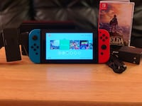 blue Nintendo Switch with box Arlington, 22202