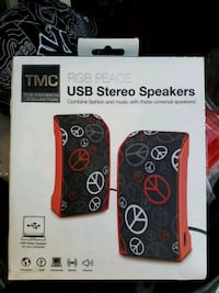 USB stereo speakers.
