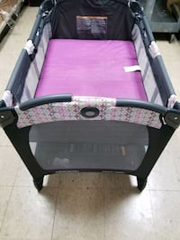 Graco Pack N Play On The Go Playard With Bassinet - Amory - Pink & Gra