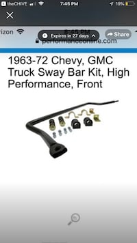 Sway bar Chevrolet Rochester