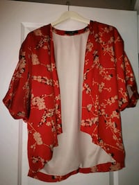 red and white floral cardigan Calgary, T3M 1K5