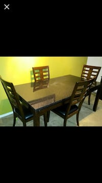 rectangular brown wooden table with six chairs dining set Henrico, 23233