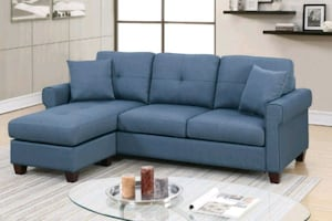 Brand New Blue Sectional Sofa