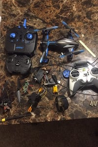 Drone/helicopter/another drone in pieces/car in pi Indianapolis, 46254