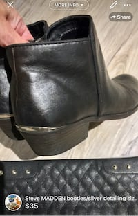 Steve MADDEN women's booties/silver detailing size 8.5/9 super comfortable and fashionable used but loved some wear but lots of life left colour black/brown mix London, N5W 6E3