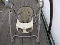 baby's gray and white swing chair null