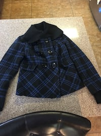 blue and black plaid button-up jacket Wasilla, 99623