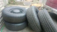 Wire spoked rims and 95% rubber Mississauga, L5B 2L6