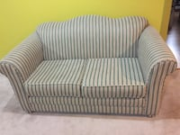 Gray and white striped loveseat Beaconsfield