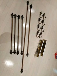 Curtain rod assemblies 4x36 in and 2x84 in Richmond Hill, L4E 0A2