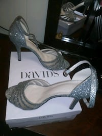 pair of gray glittered platform stilettos East Providence, 02914