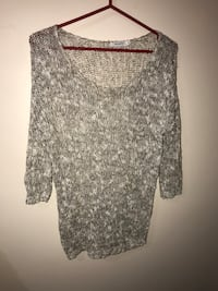 Neutral sparkley top from RICKIS Toronto, M4A 1C4