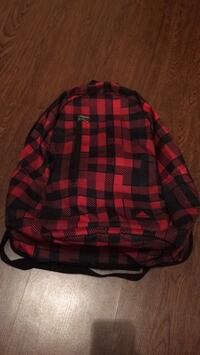 red and black tattersall print backpack Halifax, B3S 1E6