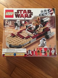 Star wars luke's landspeeder lego set (used once) will include two star wars puzzles- one 3d star wars puzzle and