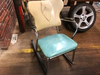 two white leather padded chairs Hudson, 03051
