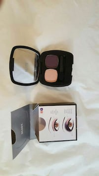 black frame makeup palette with glass mirror