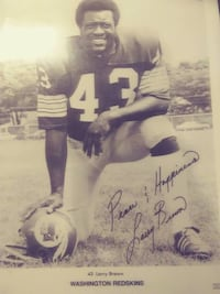 1972 Larry Brown Redskins picture PURCELLVILLE
