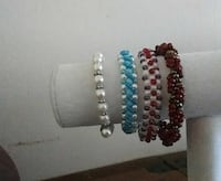 four assorted bracelets