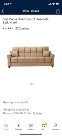 Brand new never out of the box couch/futon  Des Moines, 50317