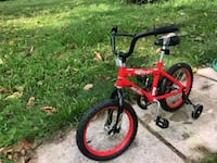 toddler's red and black bicycle Capitol Heights, 20743